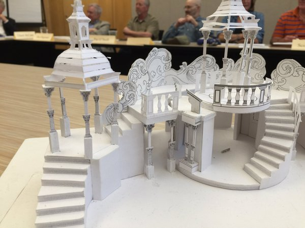 Set model for Heart of America Shakespeare Festival production of